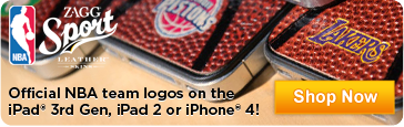 Official NBA team logos on the new iPad, iPad 2 or iPhone 4! - Shop Now
