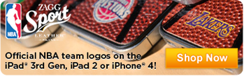 Official NBA team logos on the iPad 3rd Gen, iPad 2 or iPhone 4! - Shop Now